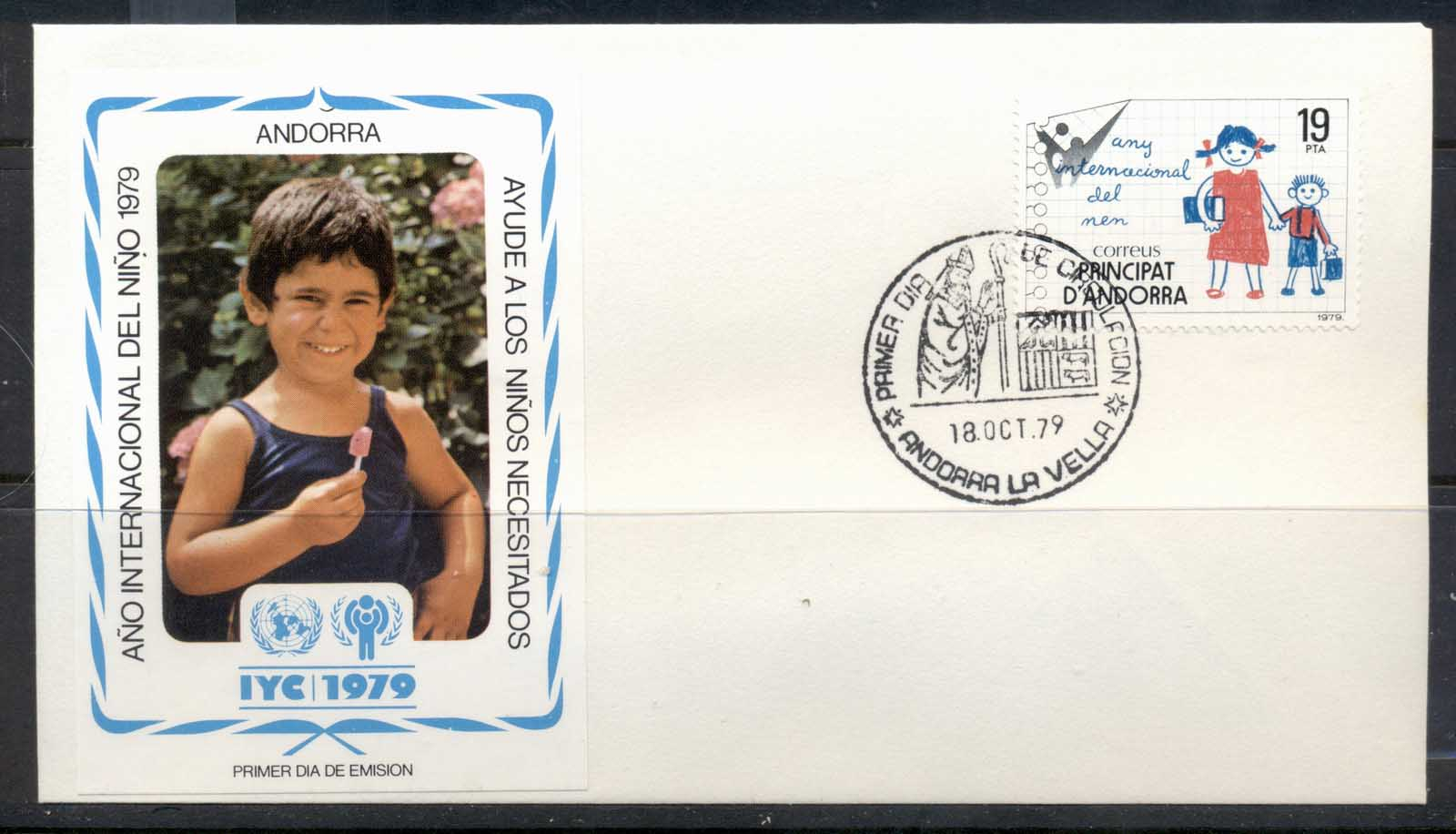 Andorra (Sp.) 1979 IYC International year of the Child FDC