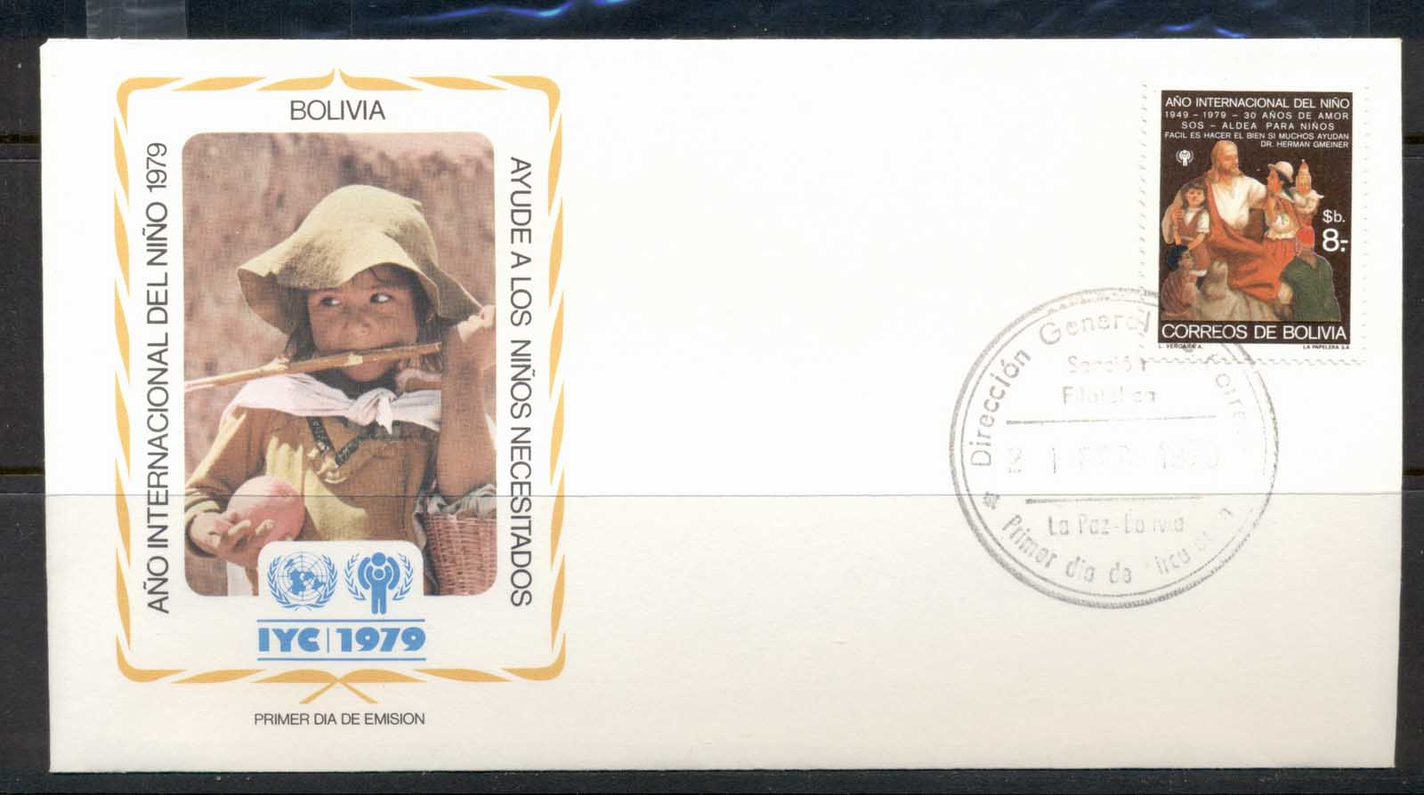 Bolivia 1979 IYC International year of the Child FDC