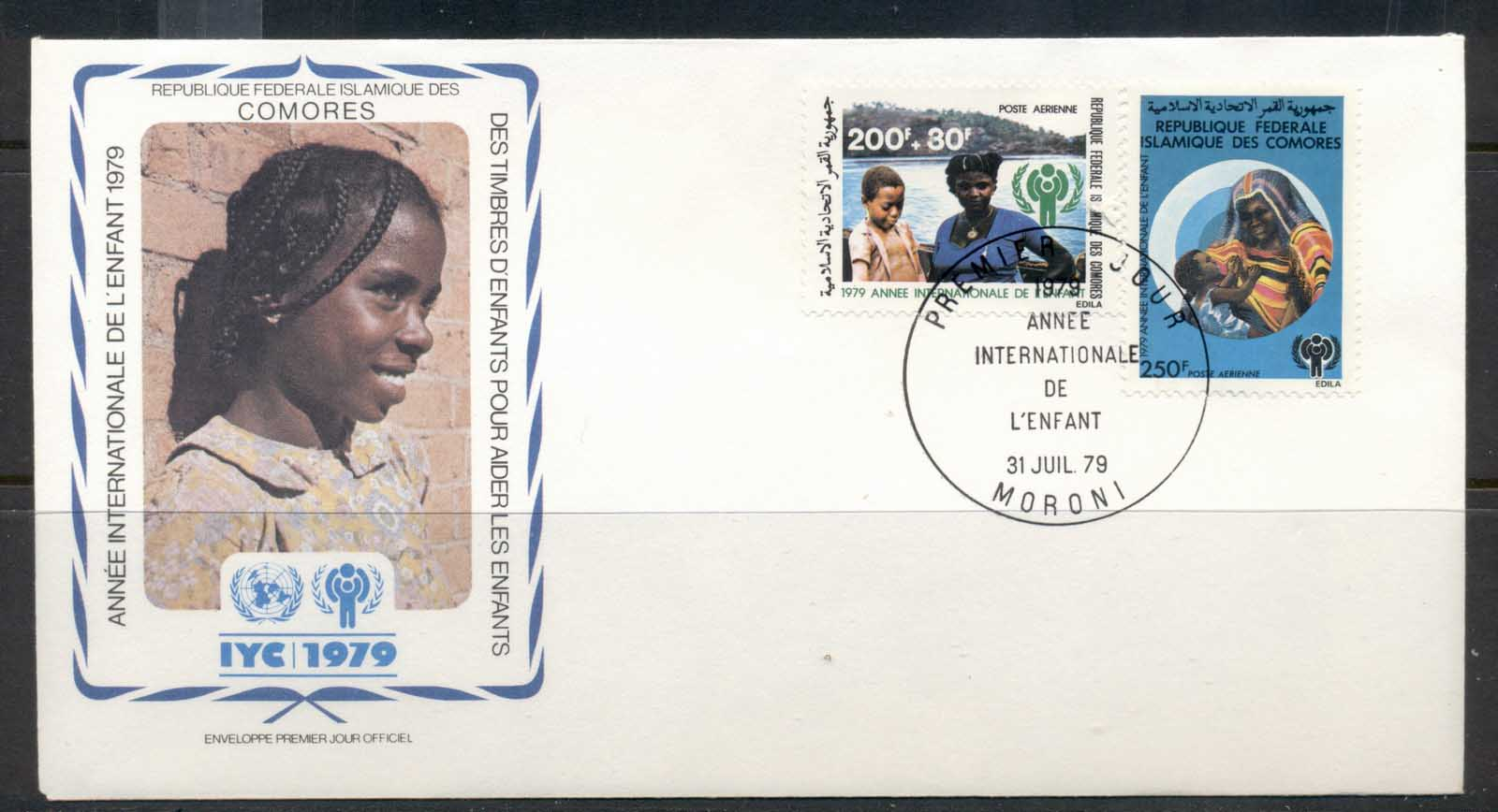 Comoro Is 1979 IYC International year of the Child FDC