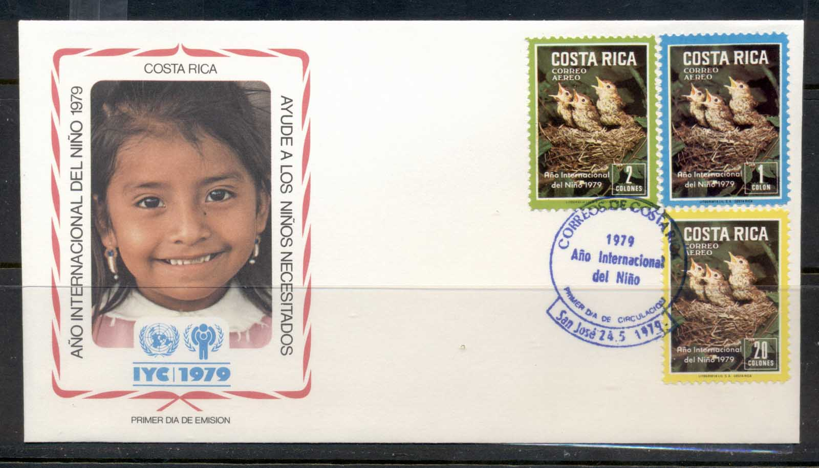 Costa Rica 1979 IYC International year of the Child FDC