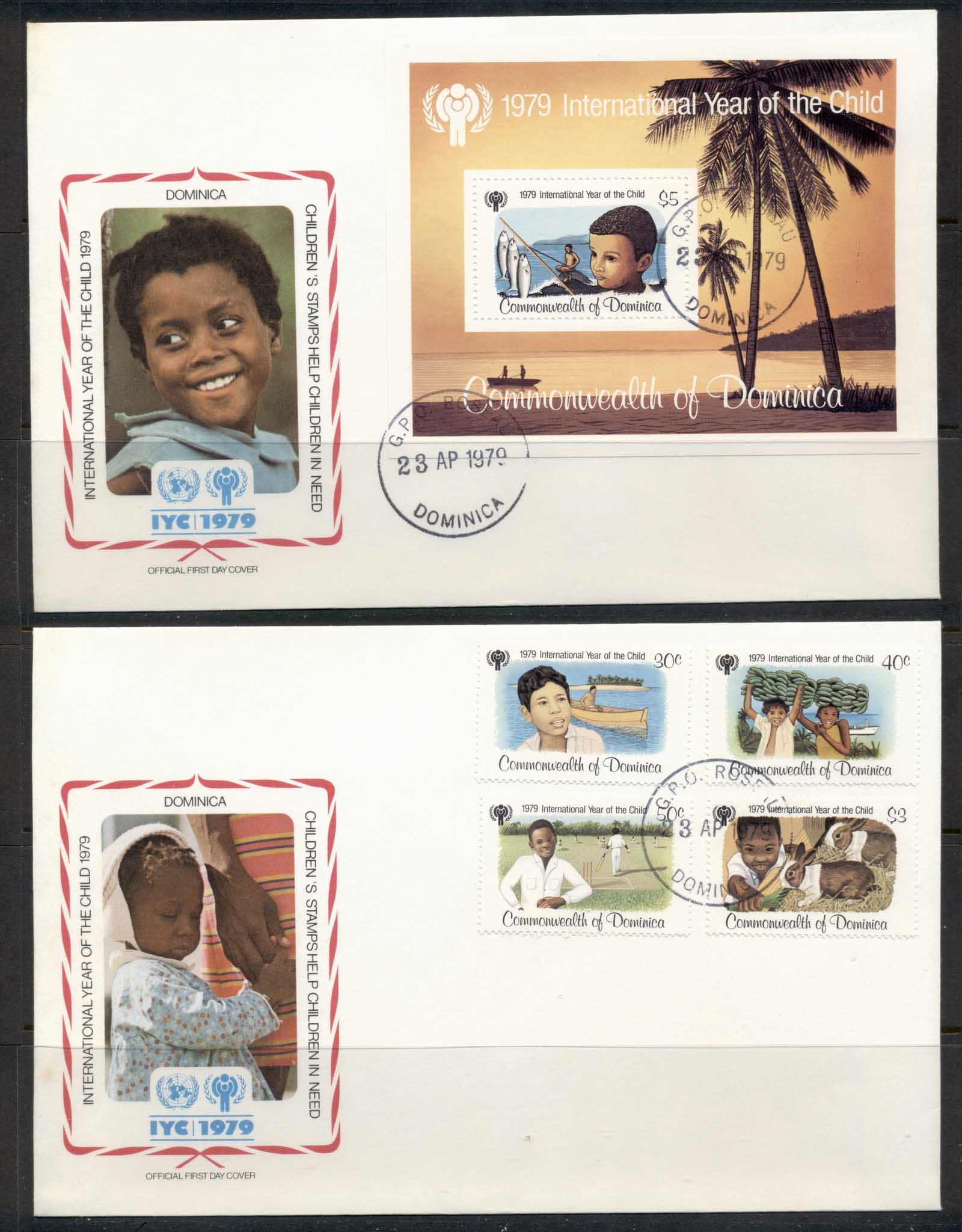 Dominica 1979 IYC International year of the Child +MS 2x FDC
