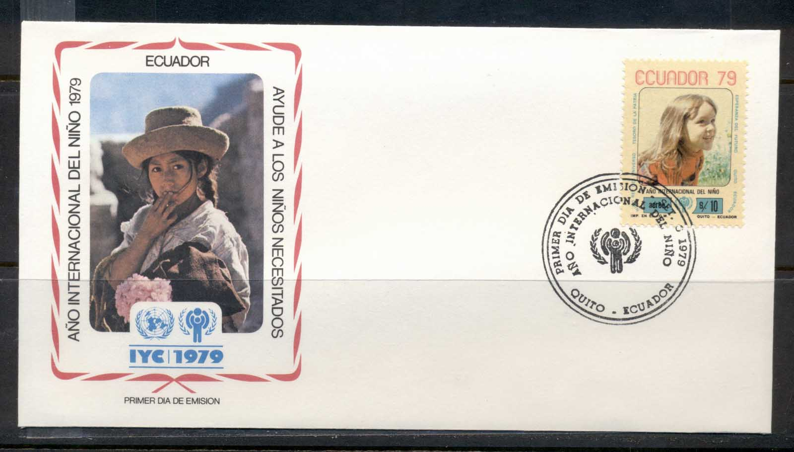 Ecuador 1979 IYC International year of the Child FDC