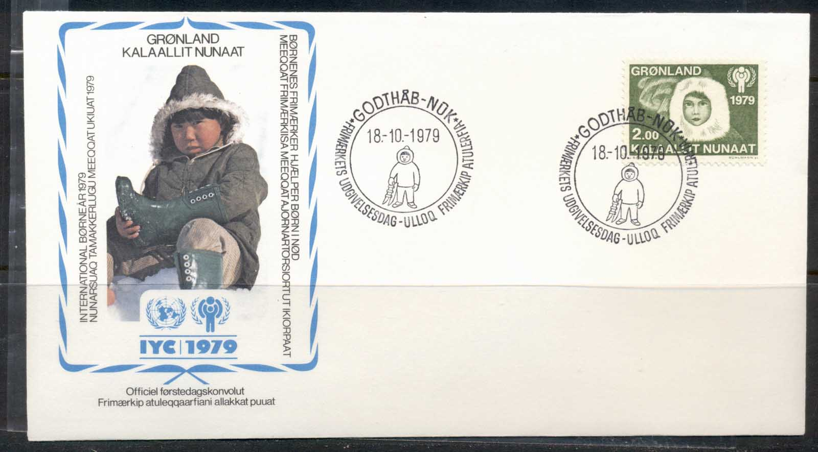 Greenland 1979 IYC International year of the Child FDC