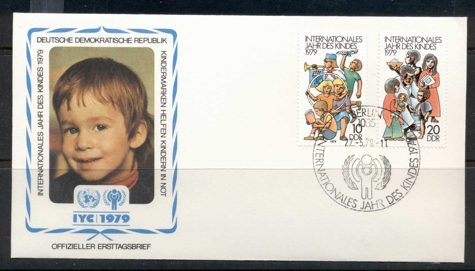 Germany DDR 1979 IYC International year of the Child FDC