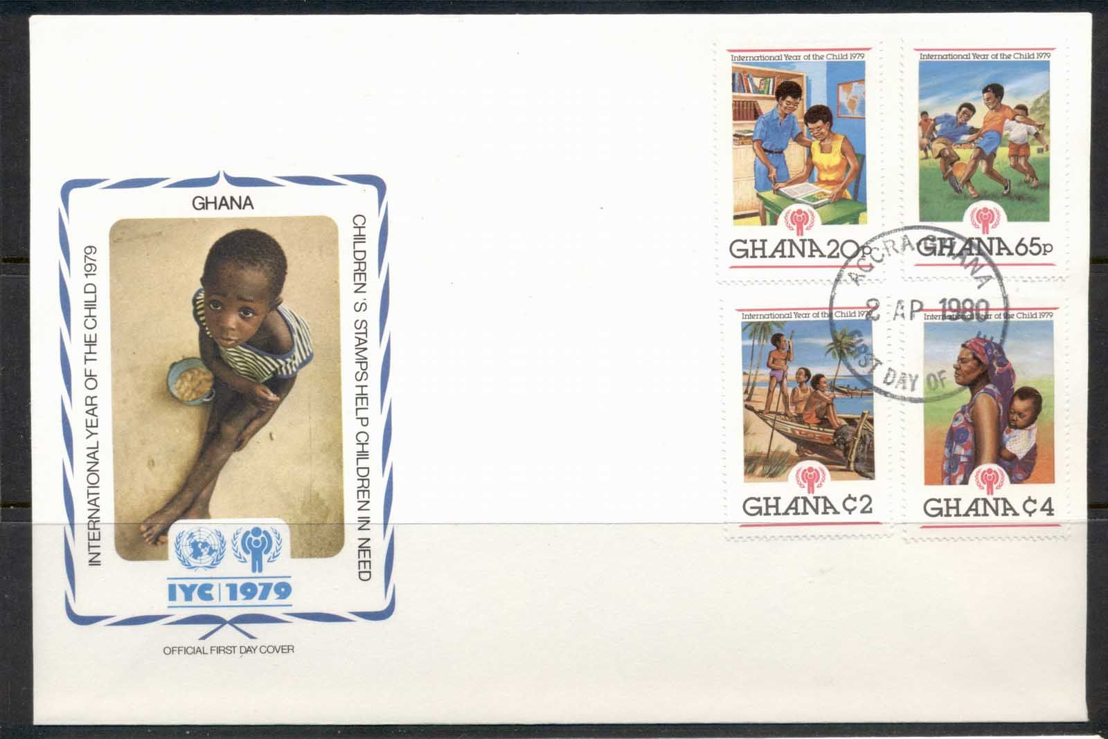 Ghana 1979 IYC International year of the Child FDC