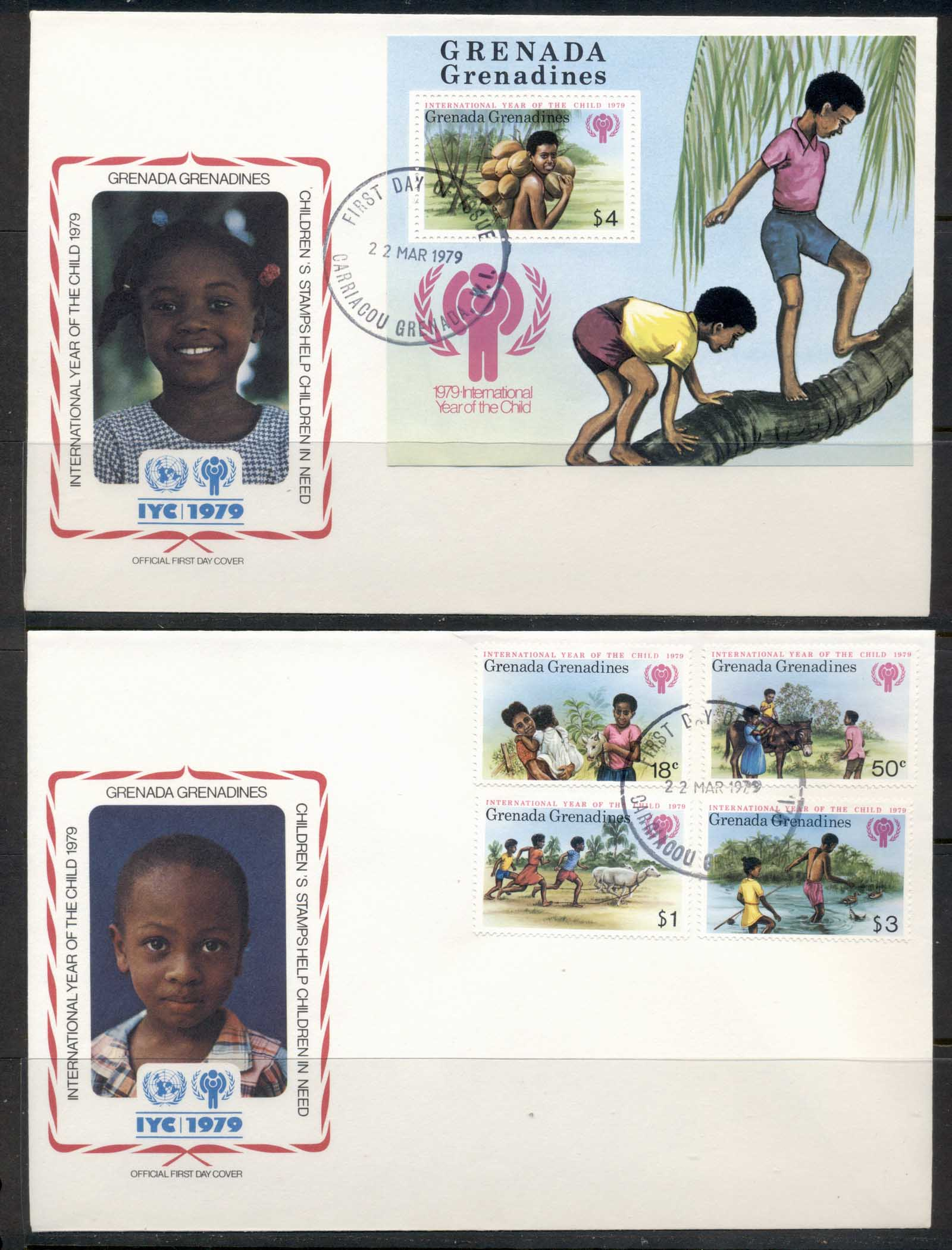 Greneda Grenadines 1979 IYC International year of the Child + MS 2x FDC