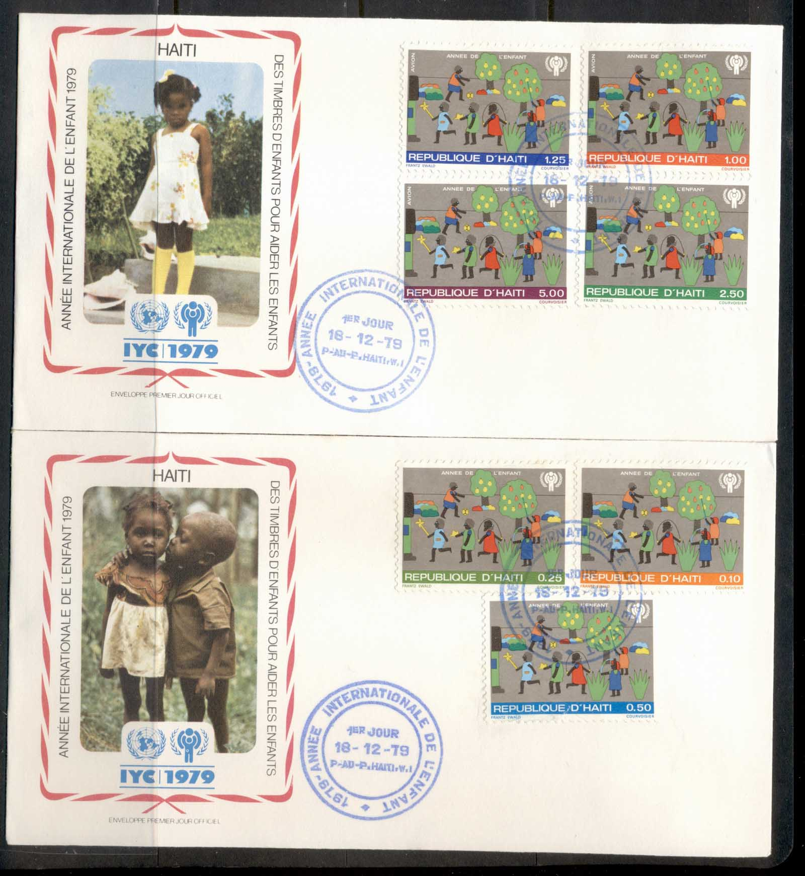 Haiti 1979 IYC International year of the Child 2x FDC