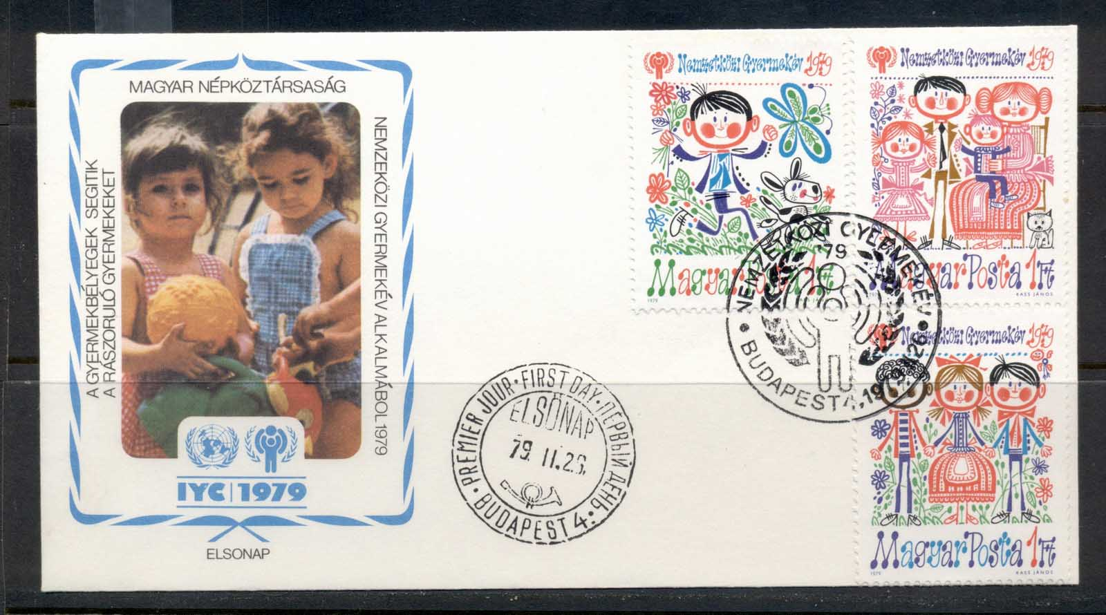 Hungary 1979 IYC International year of the Child FDC