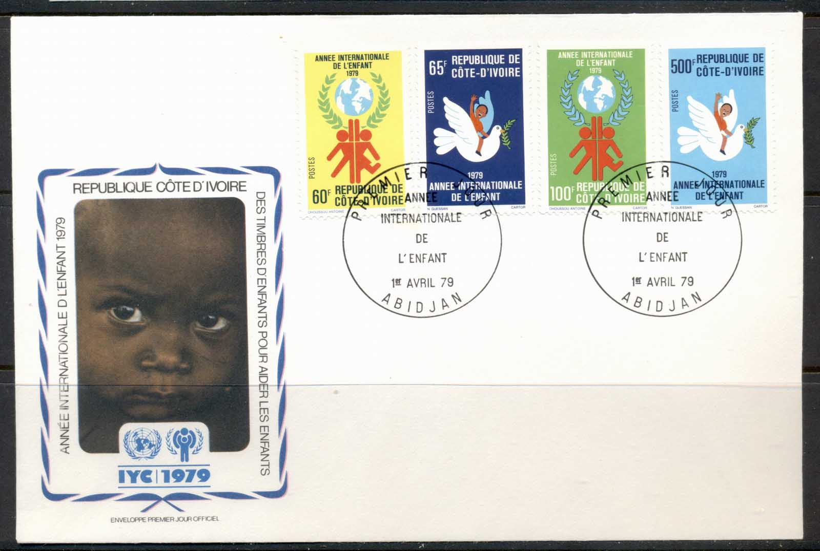 Ivory Coast 1979 IYC International year of the Child FDC
