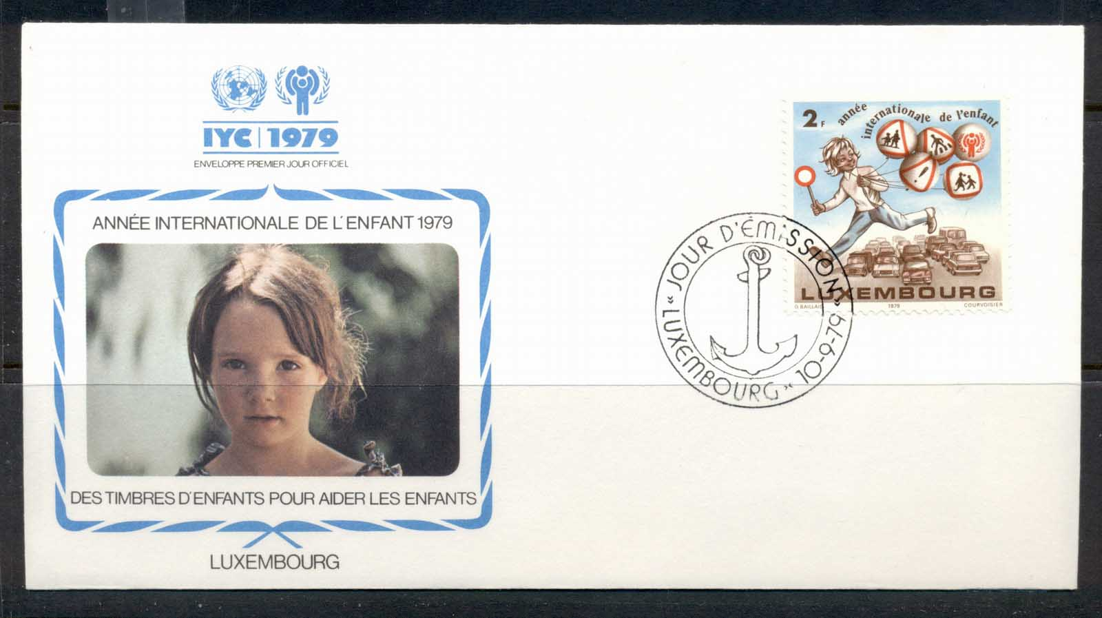 Luxembourg 1979 IYC International year of the Child FDC