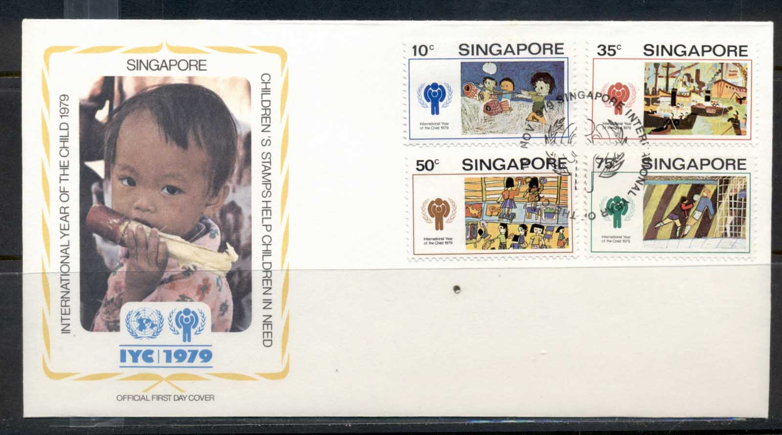 Singapore 1979 IYC International year of the Child FDC