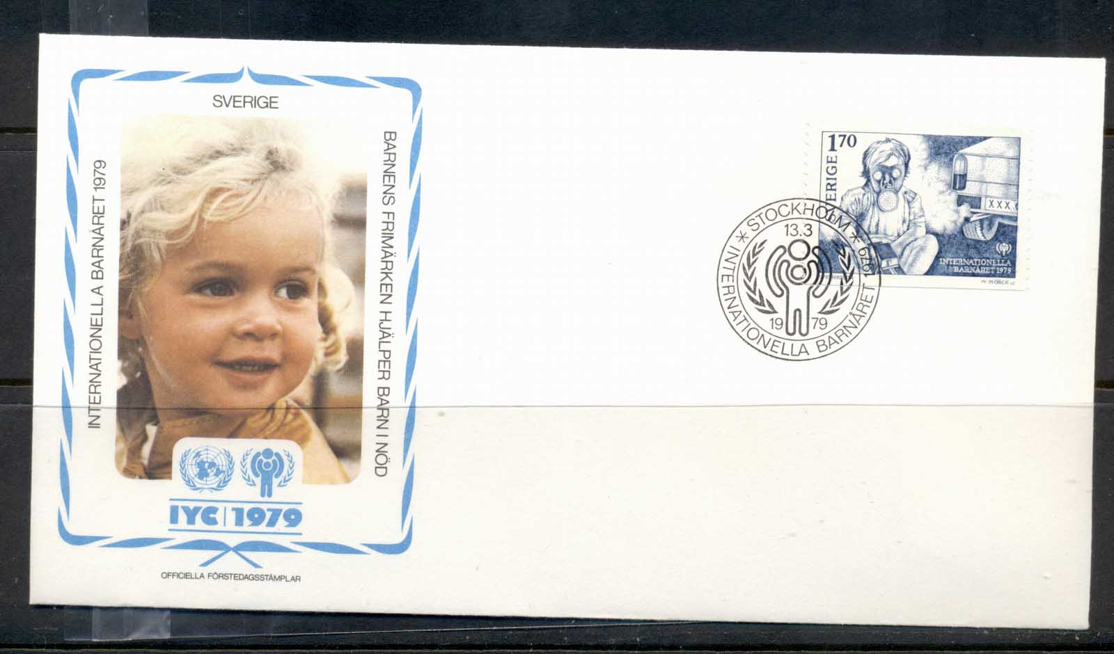 Sweden 1979 IYC International year of the Child FDC