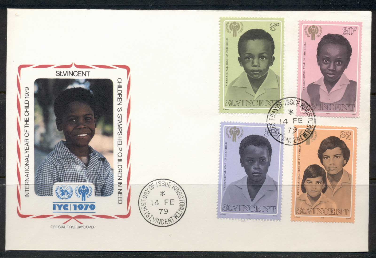 St Vincent 1979 IYC International year of the Child FDC