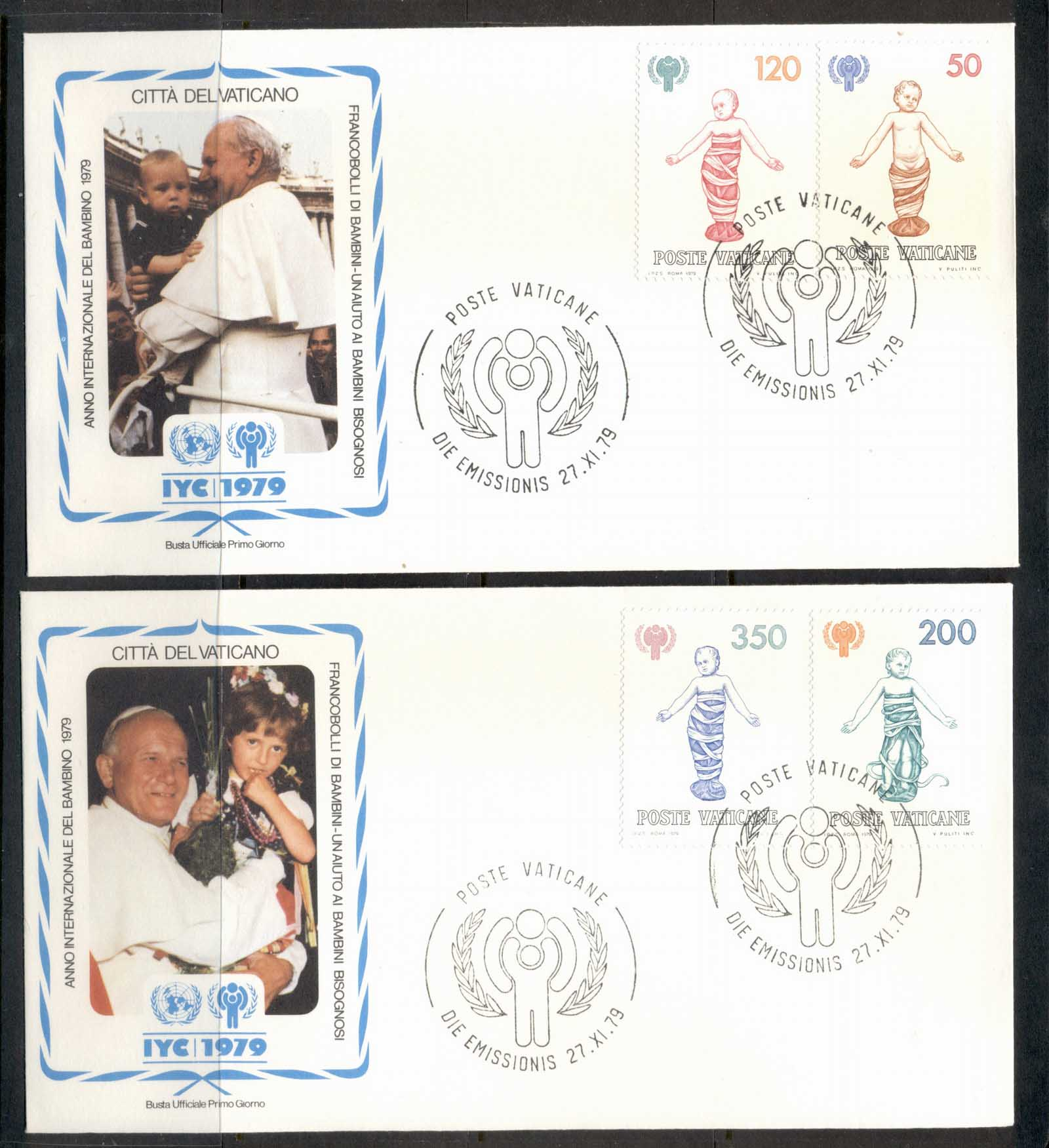 Vatican 1979 IYC International year of the Child 2x FDC