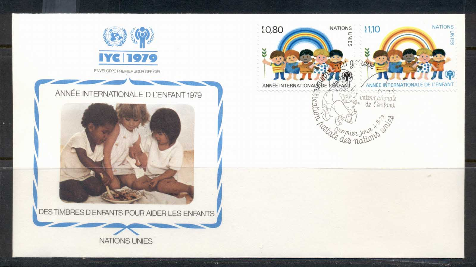 UN Geneva 1979 IYC International year of the Child FDC