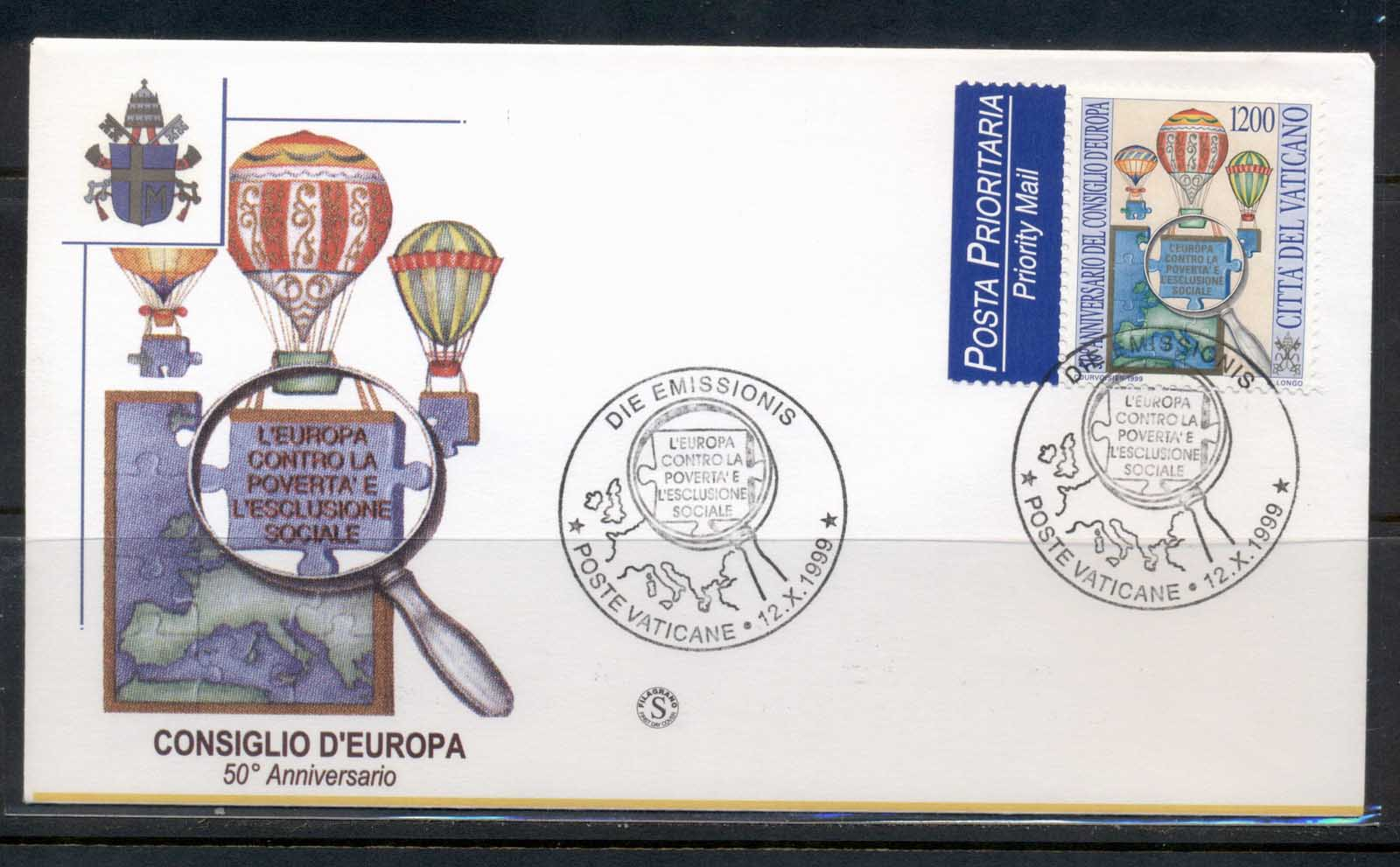 Vatican 1999 Council of Europe FDC