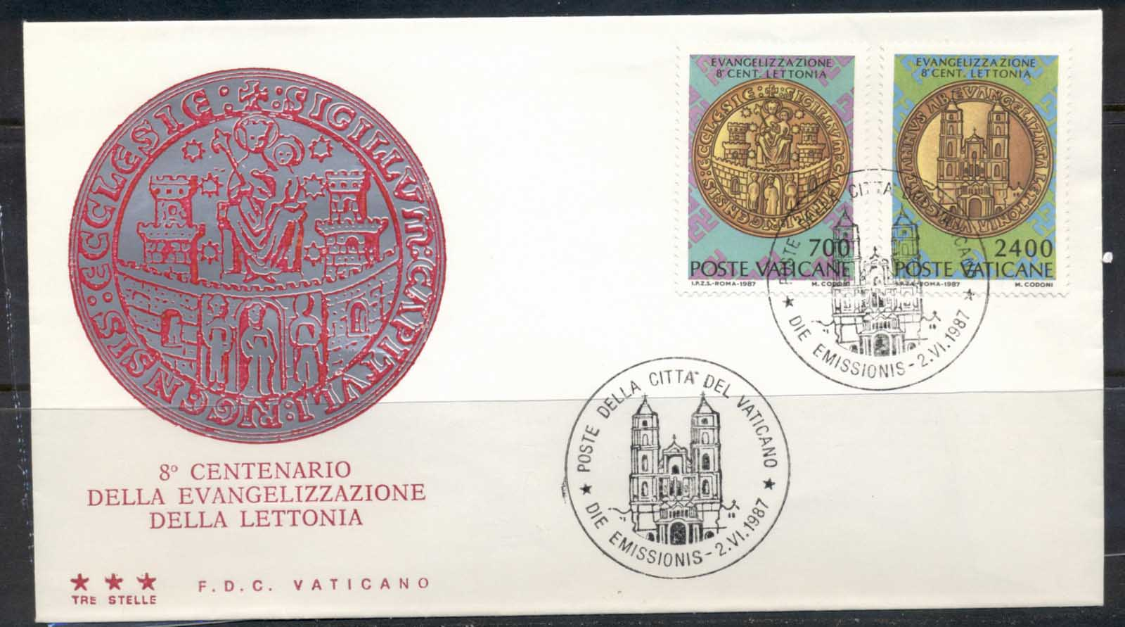 Vatican 1987 Christianization of Latvia FDC
