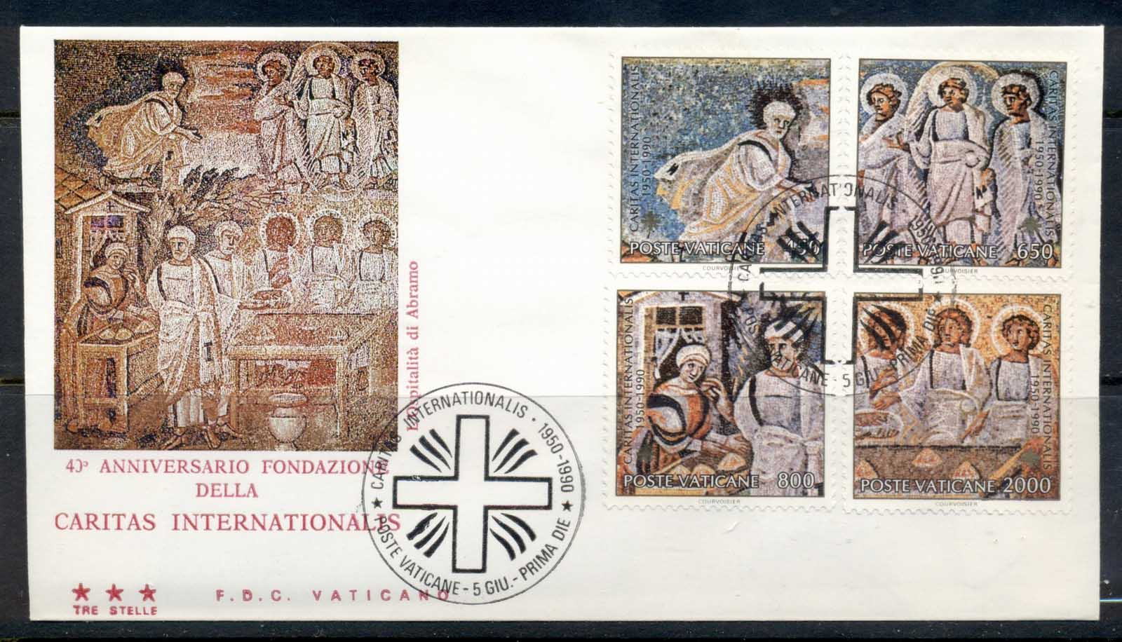 Vatican 1990 Caritas International, Mosaics FDC