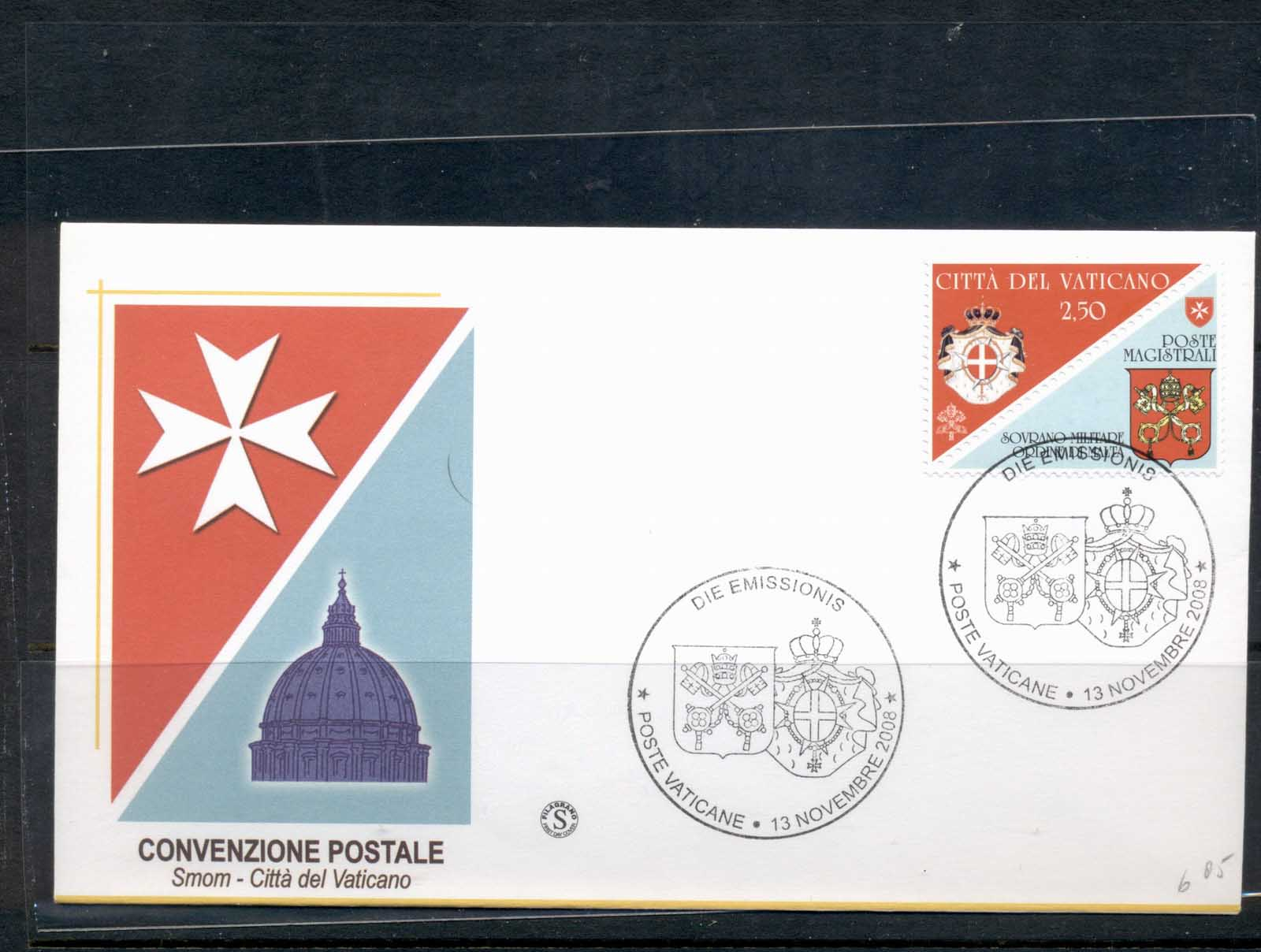 Vatican 2008 Postal Convention FDC