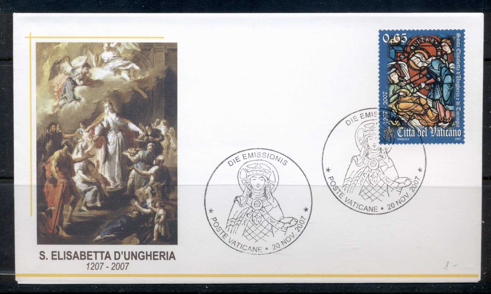 Vatican 2007 St Elizabeth of Hungary FDC