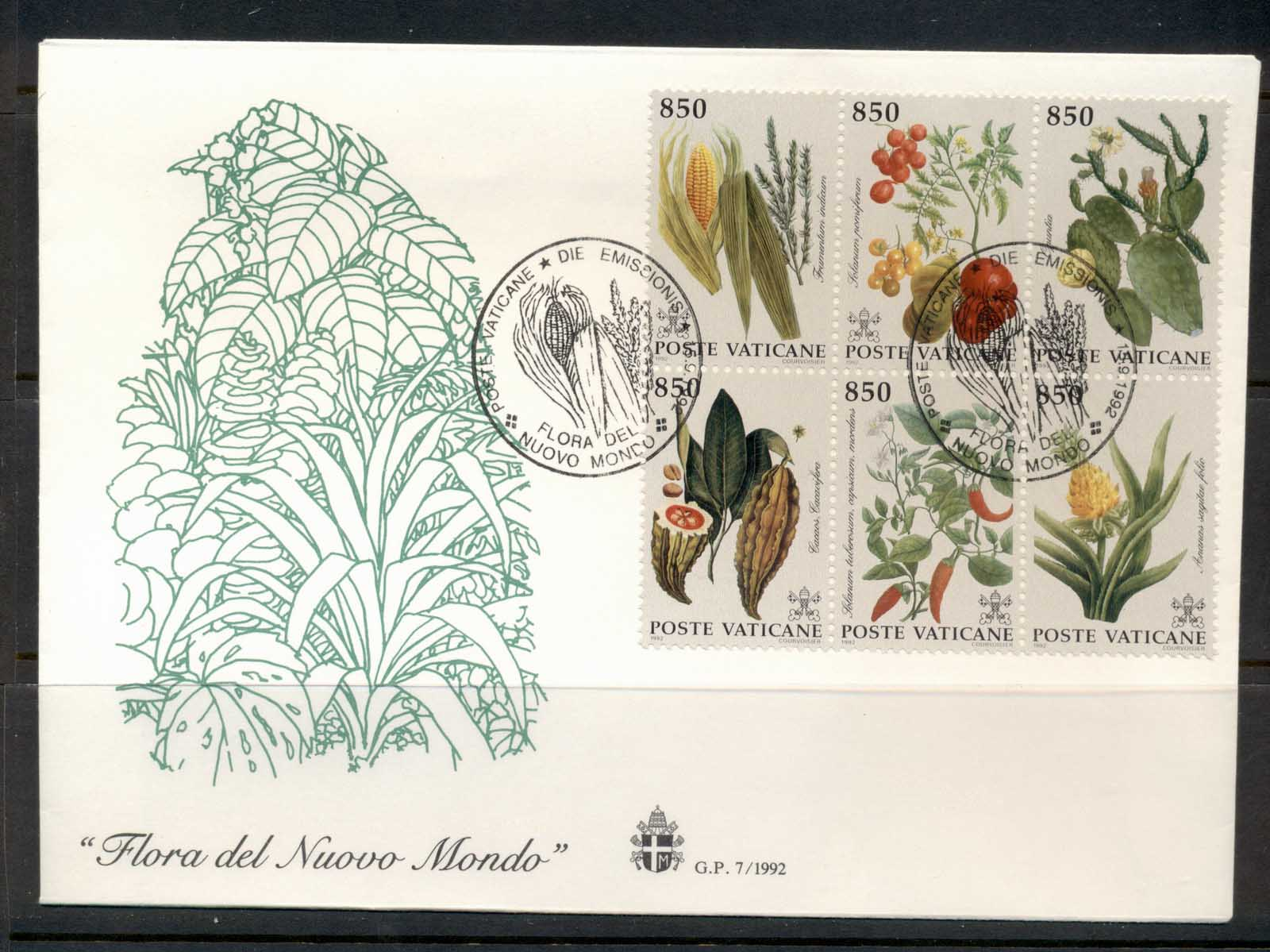Vatican 1992 Flowers of the New World FDC