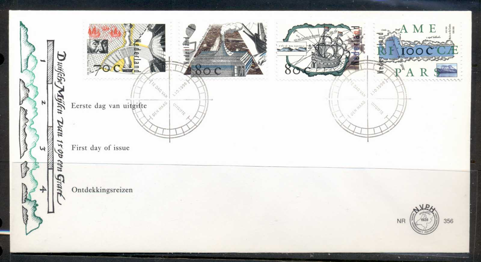 Netherlands 1996 Voyages of Discovery FDC