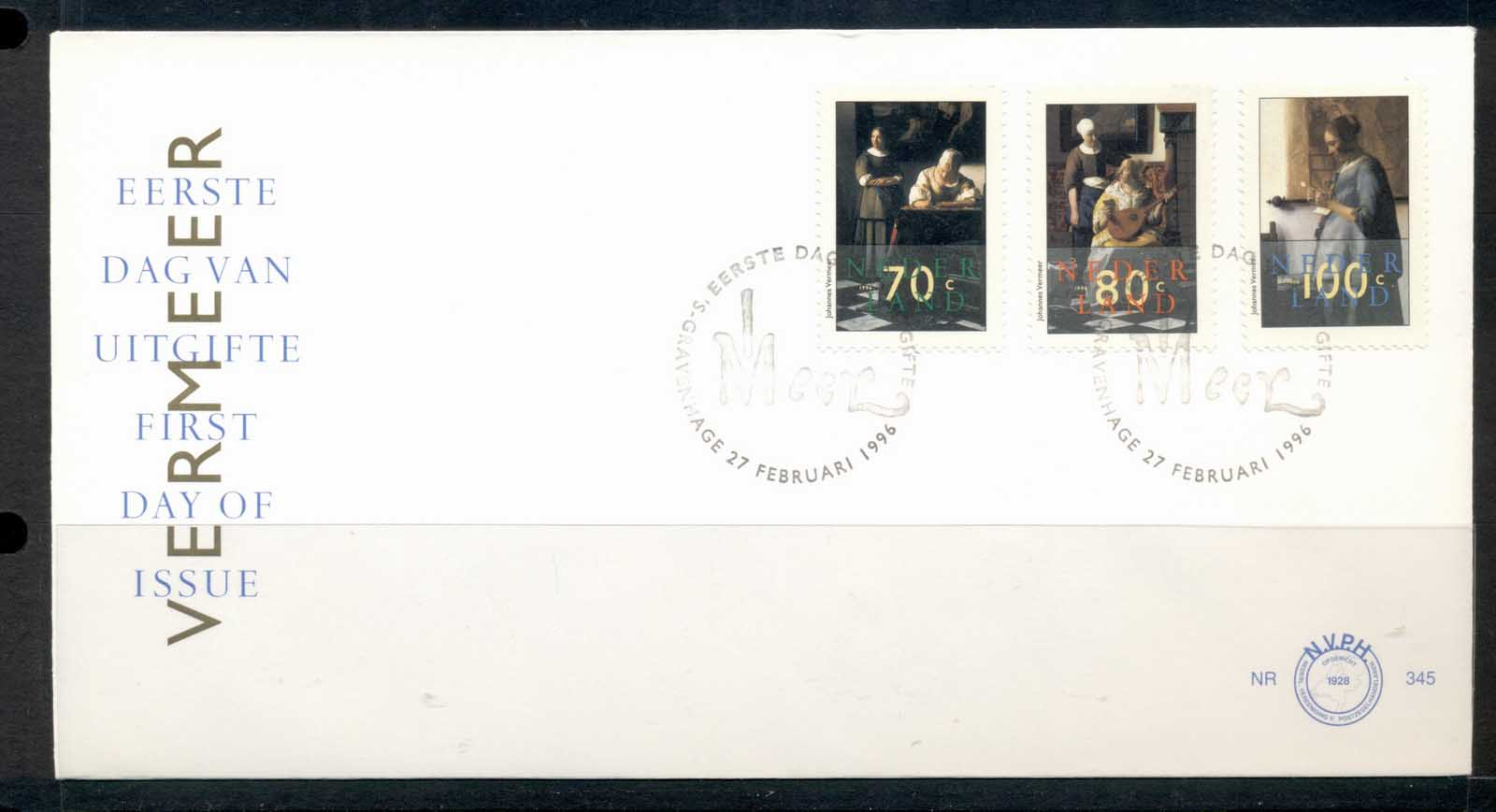 Netherlands 1996 Paintings by Vermeer FDC