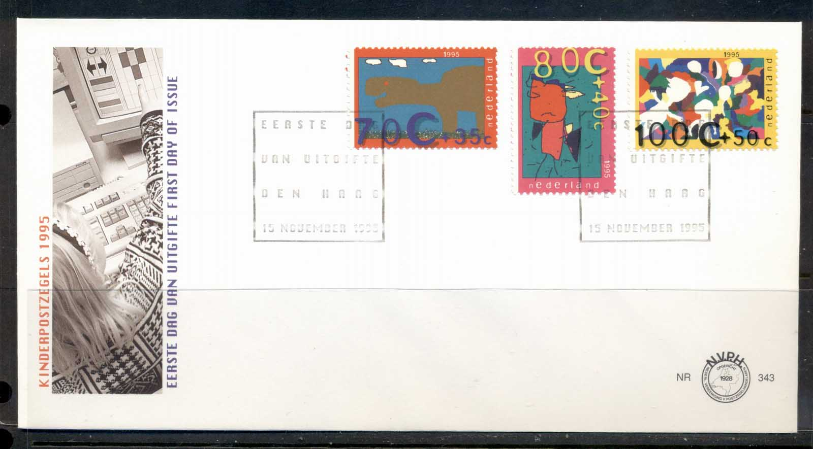 Netherlands 1995 Child Welfare FDC