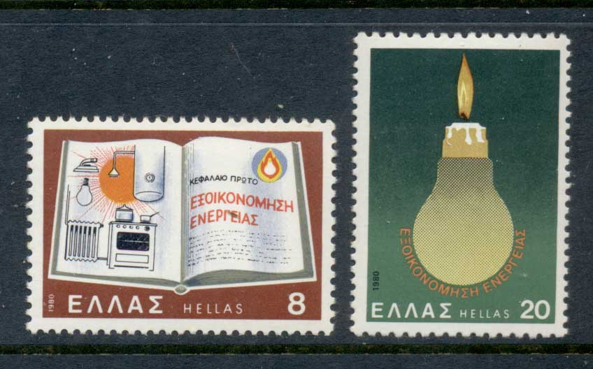 Greece 1980 Energy Conservation MUH - Click Image to Close
