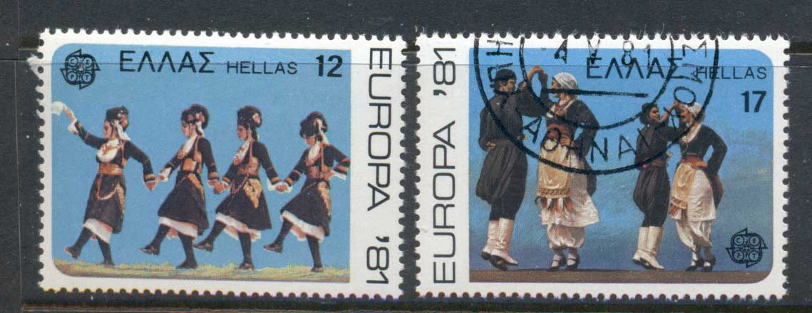Greece 1981 Europa Folk Dance MUH/CTO