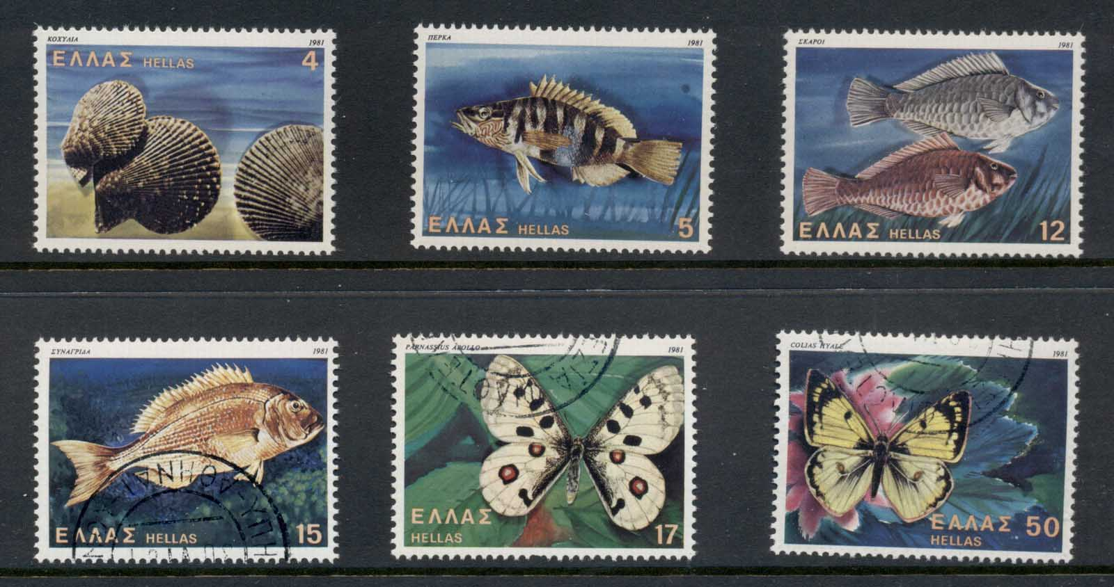 Greece 1981 Wildlife, Fish, Butterflies MUH/CTO