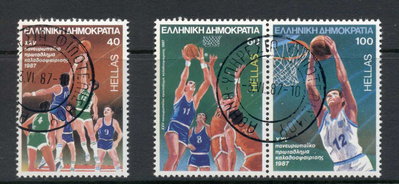 Greece 1987 European Men's Basketball Championships CTO