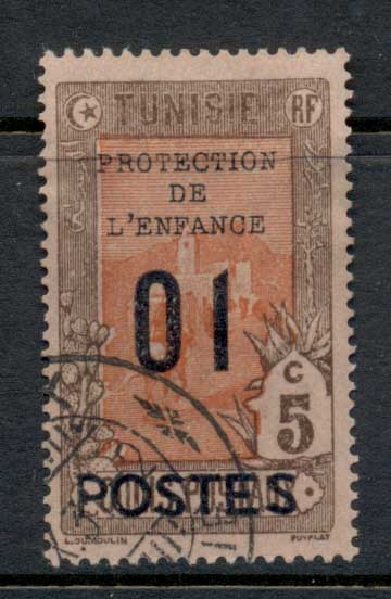 Tunisia 1925 Mail Delivery Surch on Parcel Post 1c FU