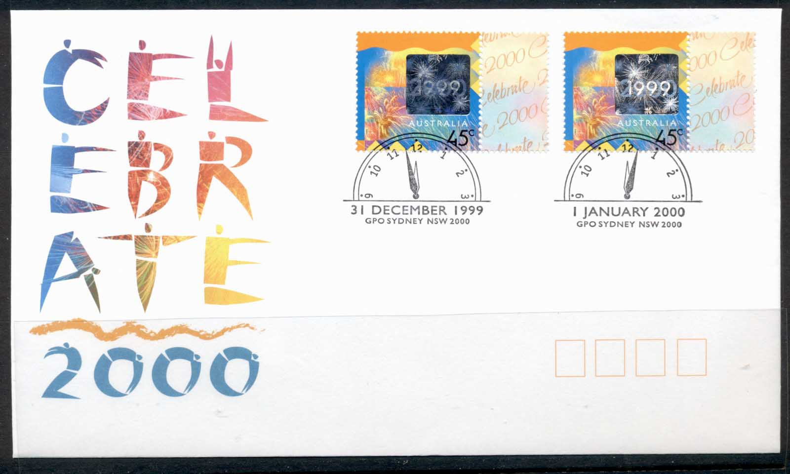 Australia 1999 Celebrate 2000 New Year FDC