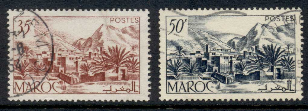 French Morocco 1950 Todra Valley FU