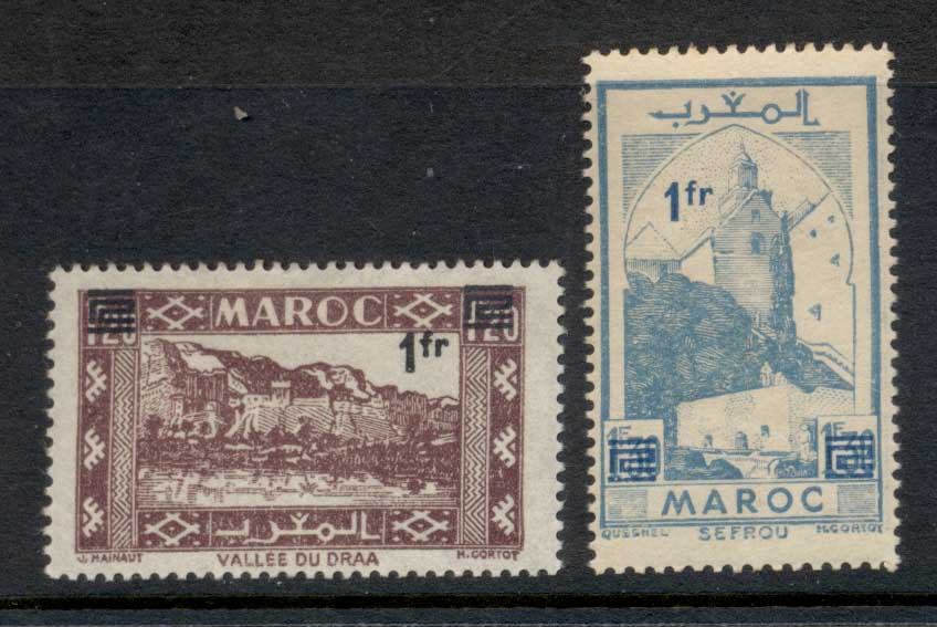 French Morocco 1950 Surcharge MLU