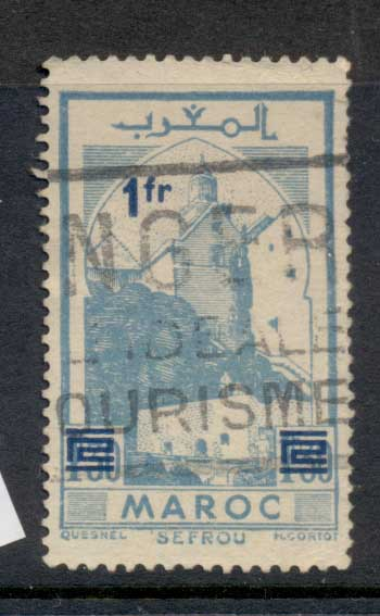 French Morocco 1950 Surcharge 1f on 1.30f FU