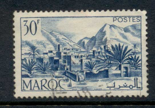 French Morocco 1951 Todra Valley 30f FU