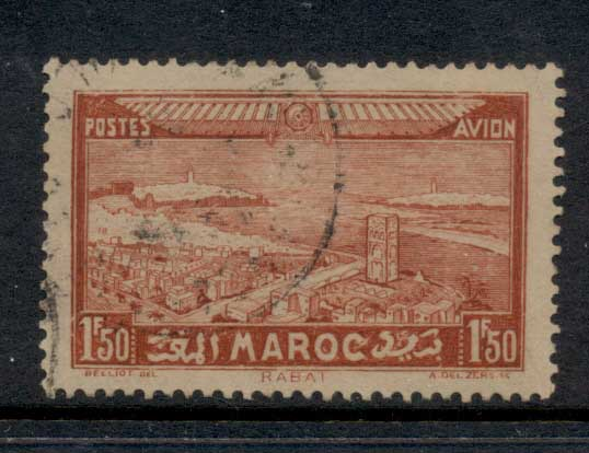 French Morocco 1933 Air Mail 1.50f FU