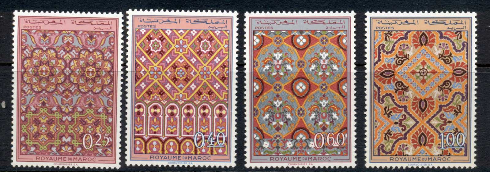 Morocco 1968 Ornamental designs MUH