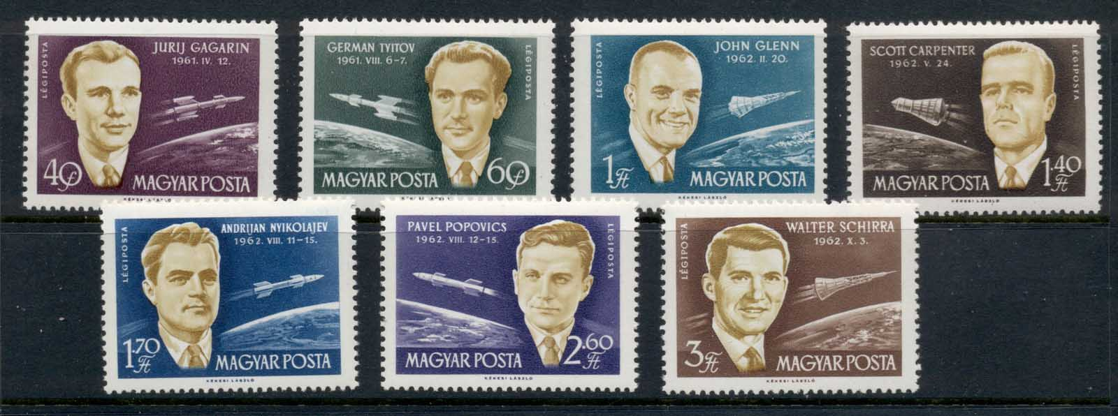 Hungary 1962 First Seven Astronauts MUH