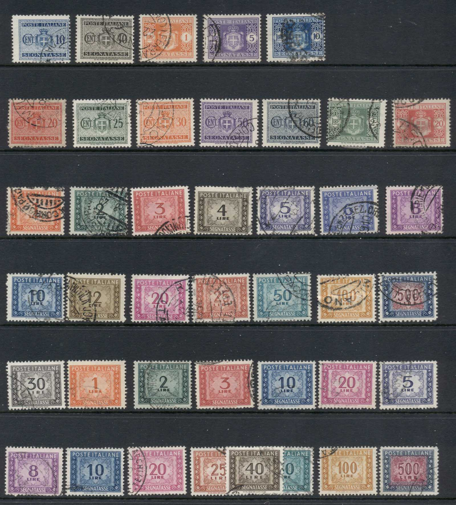 Italy 1945 on Assorted Postage Dues FU