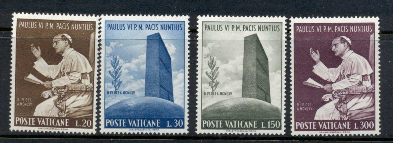 Vatican 1965 Visit of Pope Paul VI to UN MLH