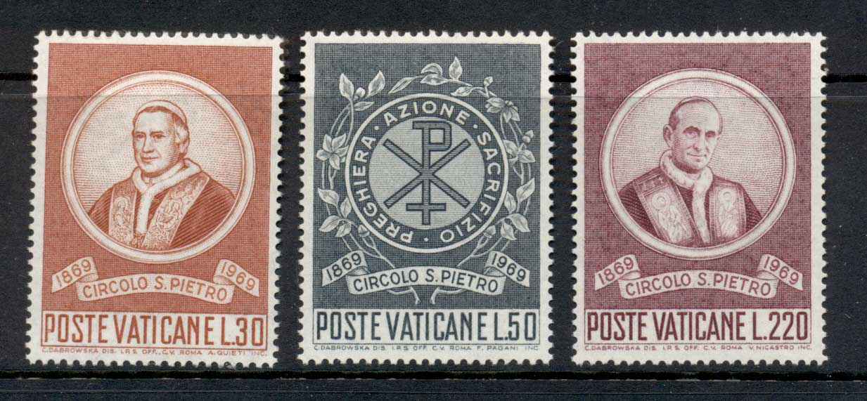 Vatican 1969 Centenary of St Peter's Circle MLH