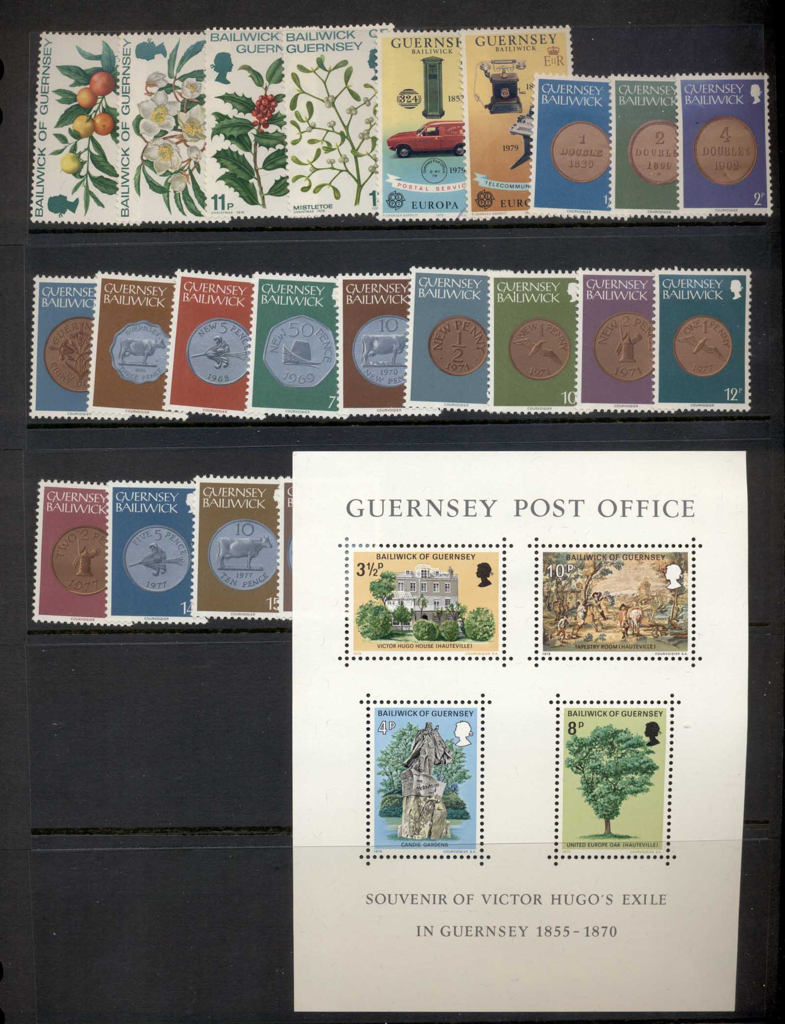 Guernsey 1970's selection, mostly sets 2 scans MLH/FU