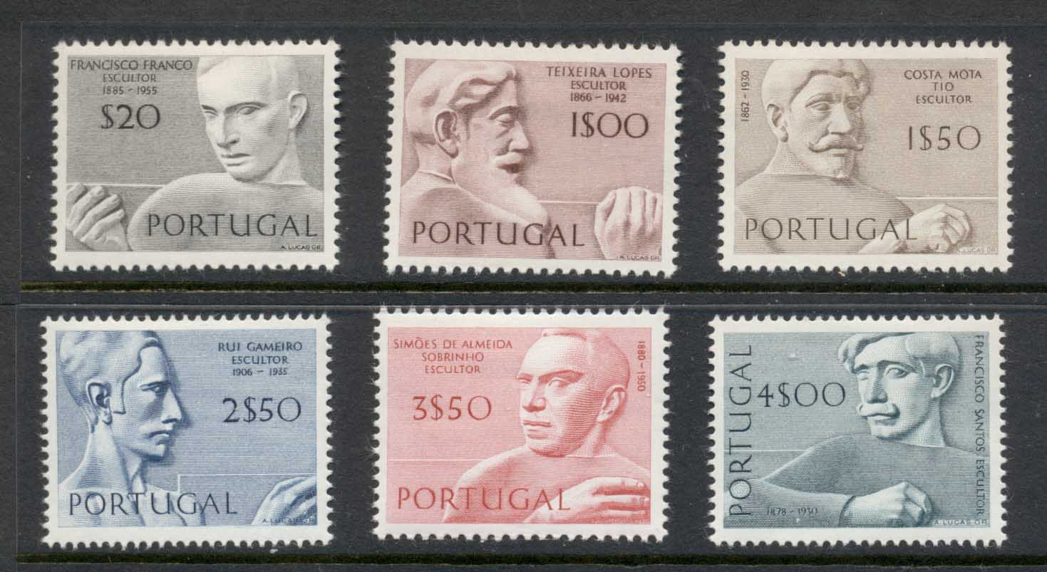 Portugal 1971 Portraits, Sculptors MLH - Click Image to Close