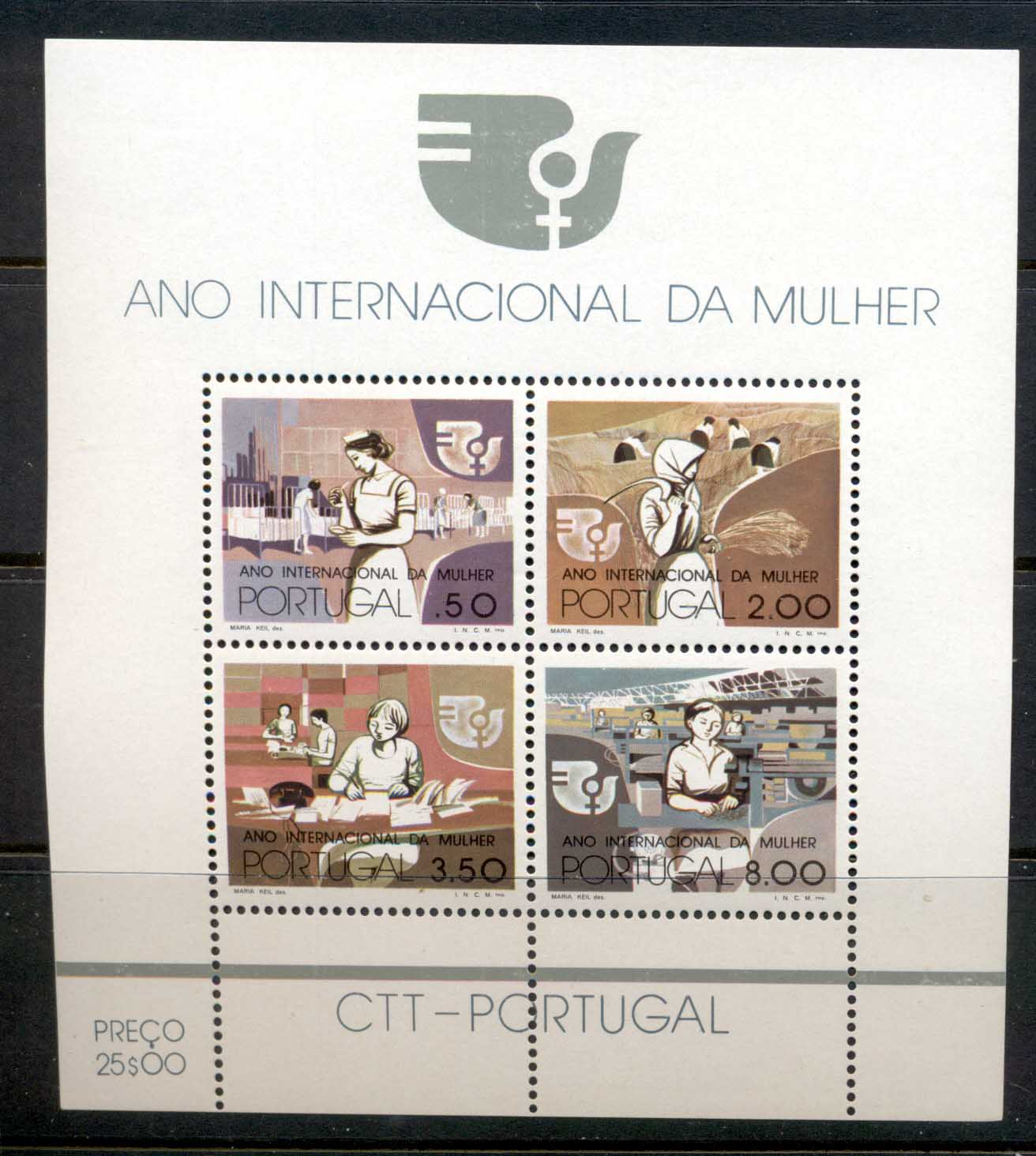 Portugal 1975 IWY Intl. Women's Year MS MUH