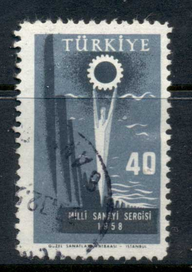 Turkey 1958 National Industry Exhibition FU