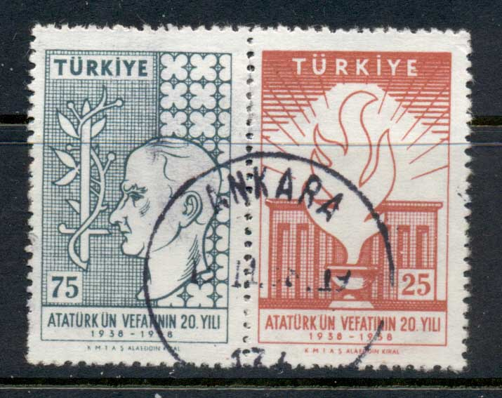 Turkey 1958 Kemal Ataturk 20th Death Anniv. FU