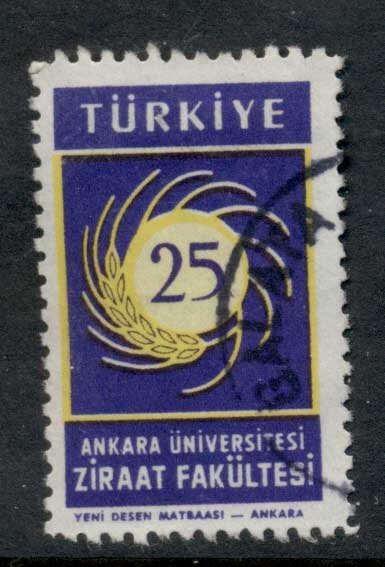 Turkey 1959 Ankara University of Agriculture FU
